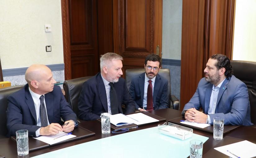 Pr Minister Saad Hariri meets an Italian Delegation