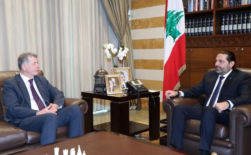 Pr Minister Saad Hariri meets a British Delegation