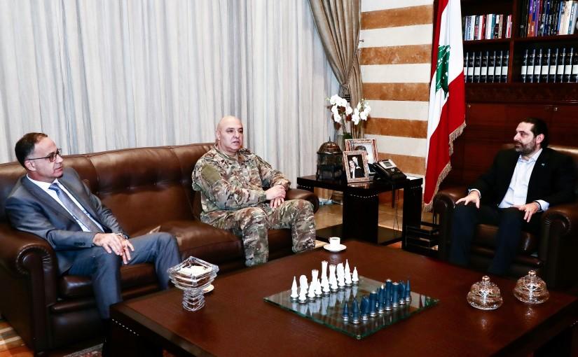 Pr Minister Saad Hariri meets Head of Lebanese Army General Joseph Aoun