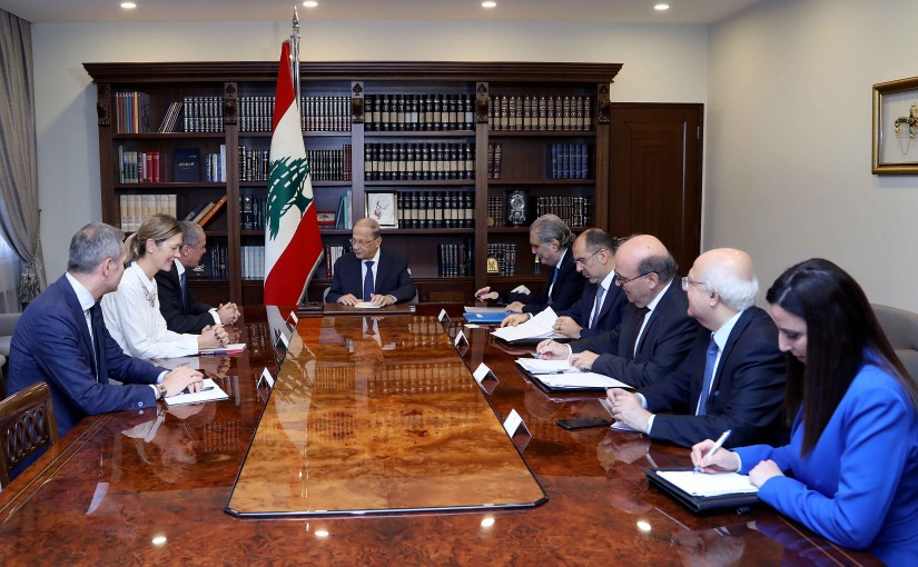 President Michel Aoun meets Ralph Tarraf, Ambassador of the European Union to Lebanon.