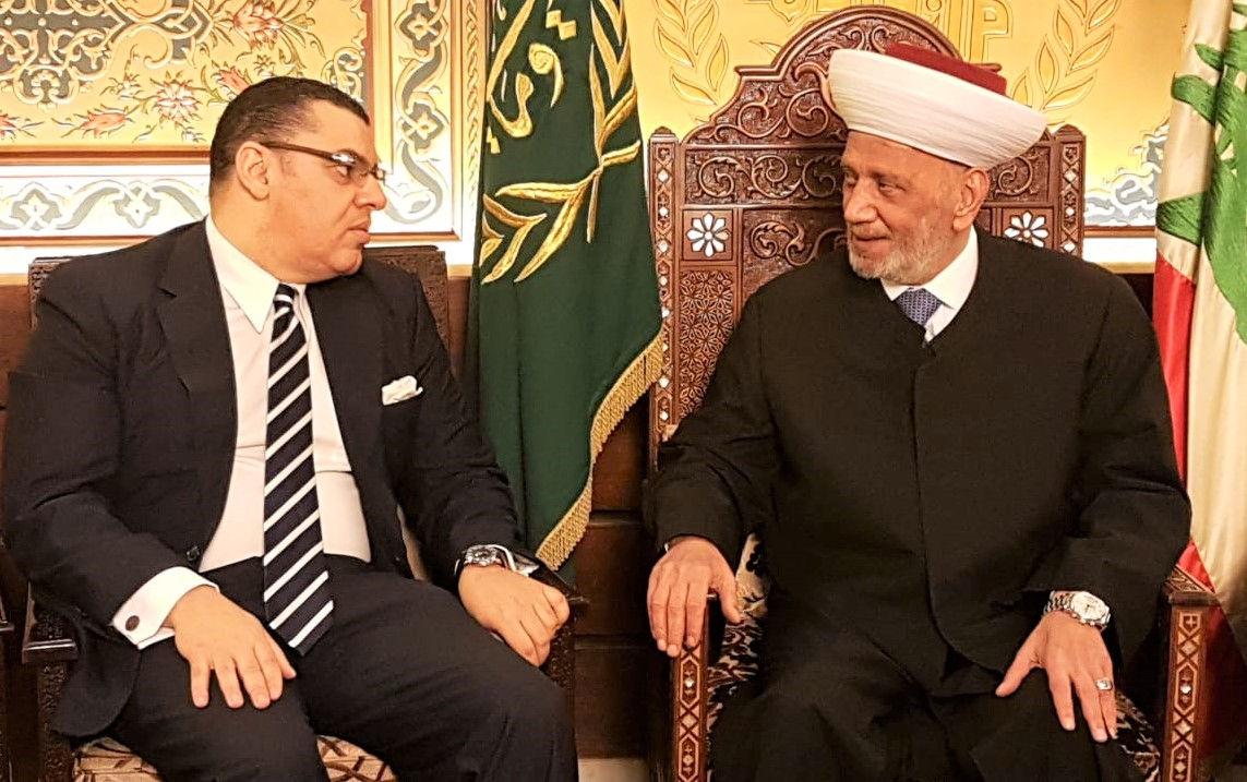 المفتي دريان مع السفير المصري في لبنان ياسر علوي 12-12-2019م