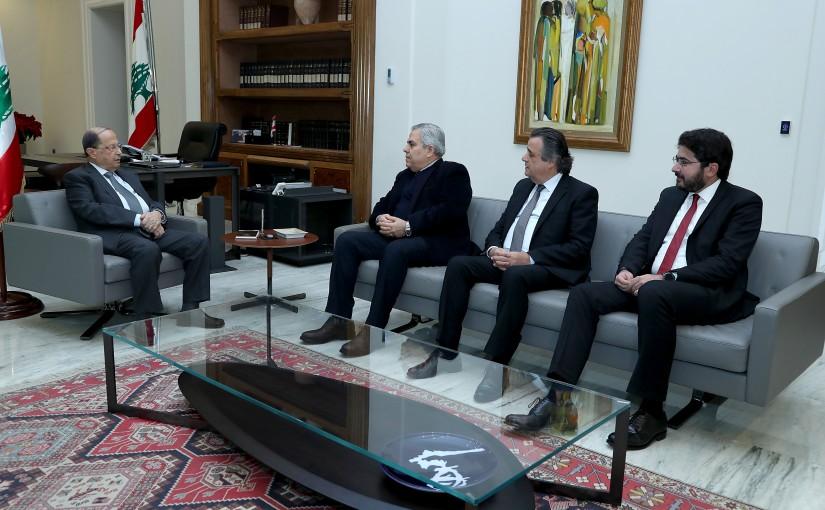 President Michel Aoun meets MP's Hikmet Dib,Roger Azar and Salim Khoury.