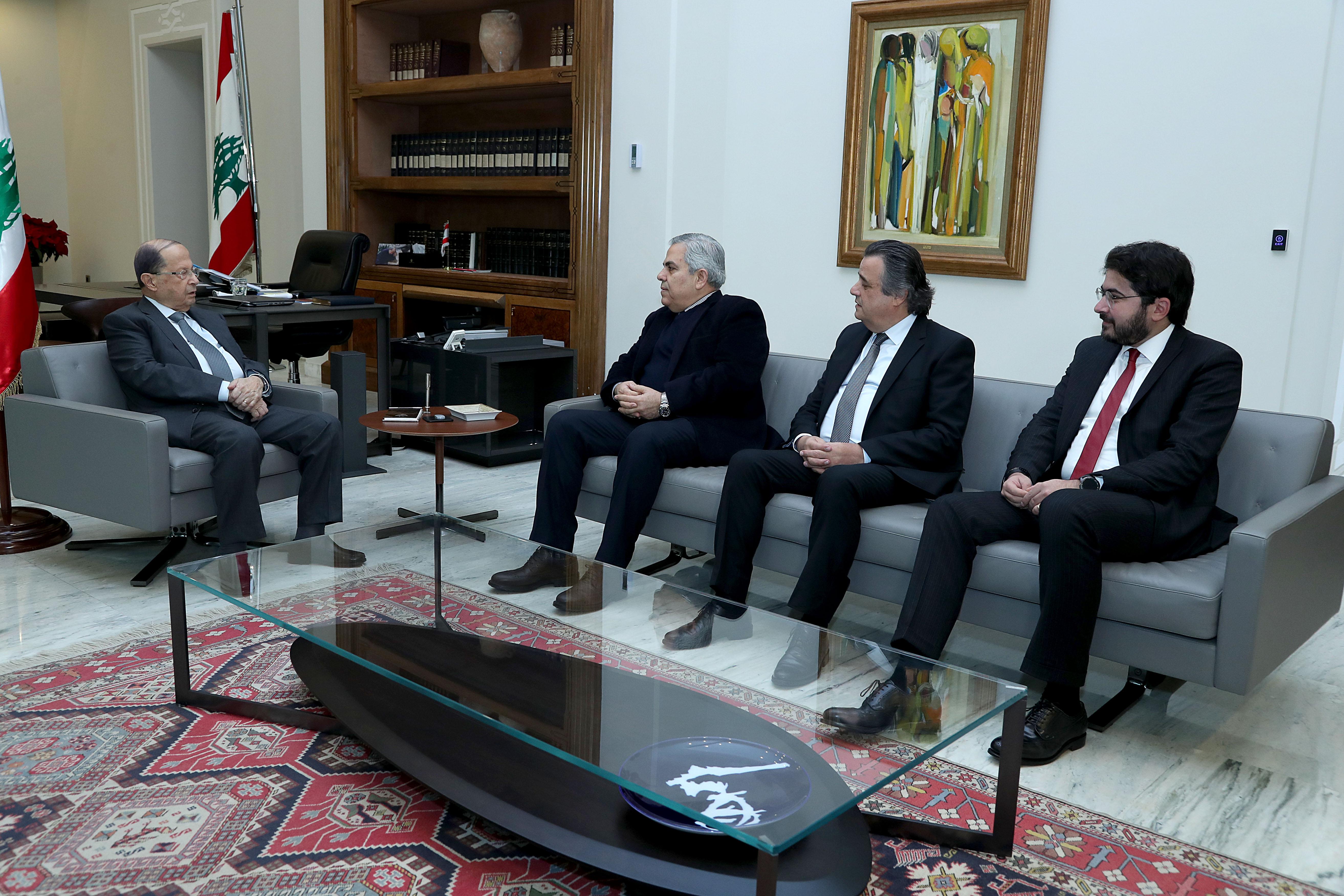 1 -MP's Roger Azar,Salim Khoury & Hikmet Dib