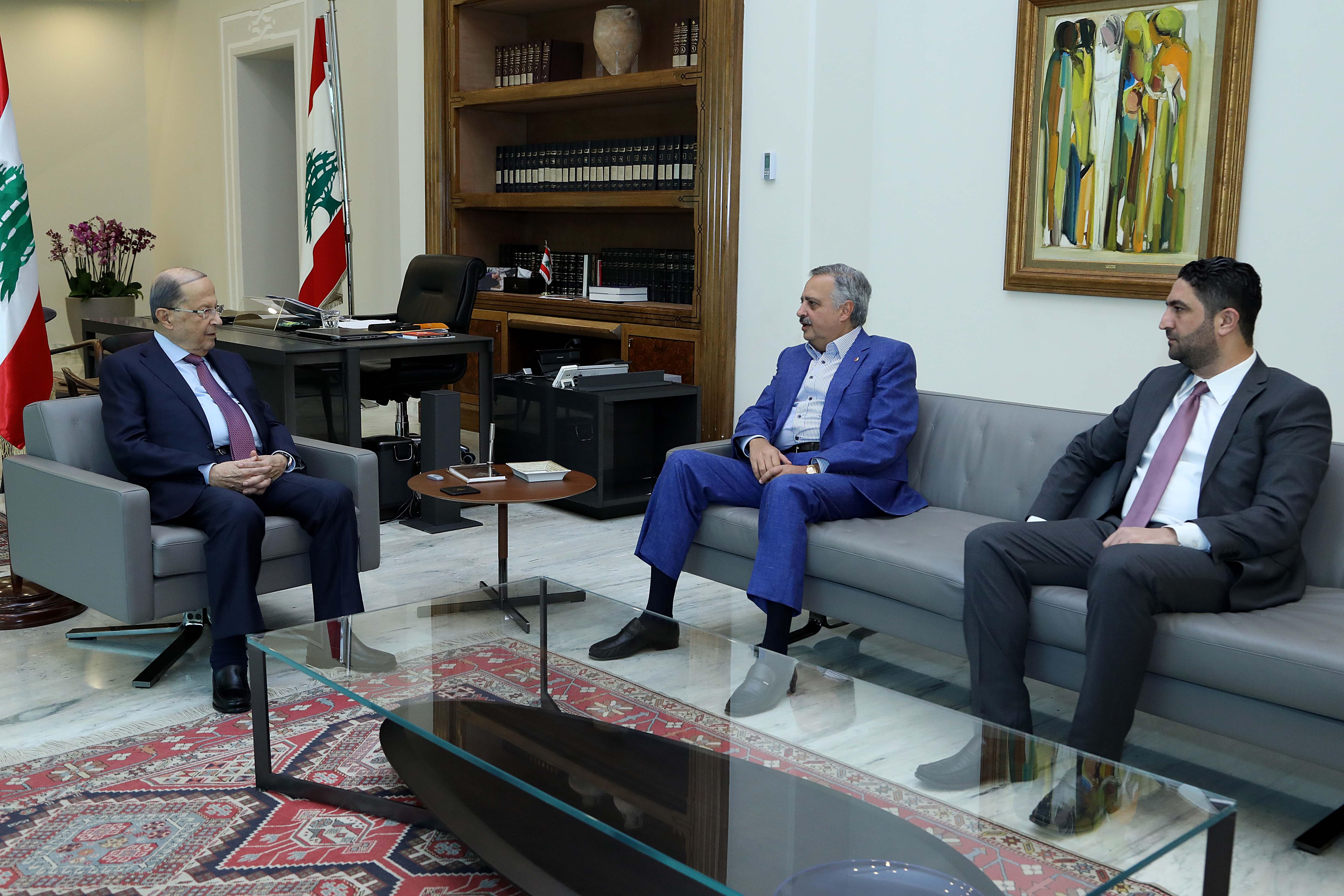 1 - Ministers Talal Arslan and Saleh Issam Gharib