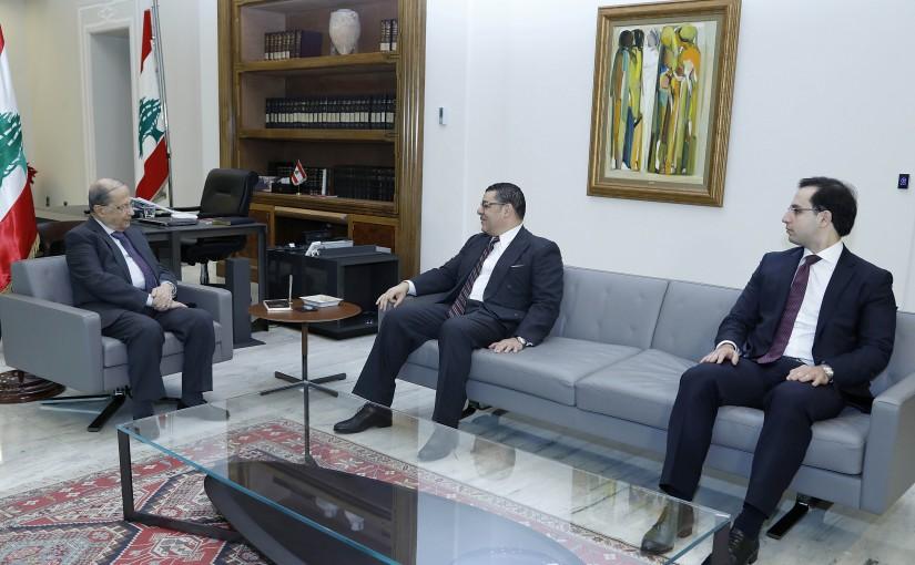 President Michel Aoun meets Ambassador Dr. Yasser Alawi.