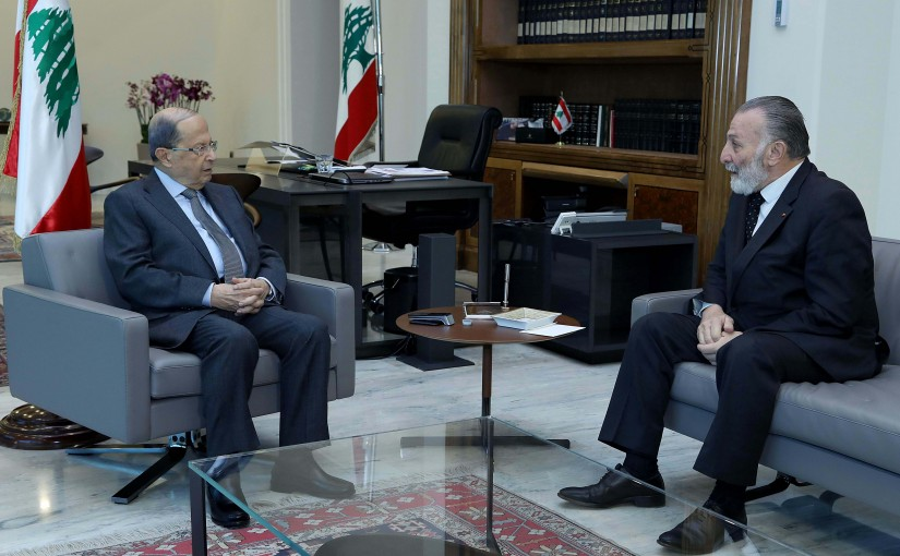 President Michel Aoun meets Mr.Naji Khoury.
