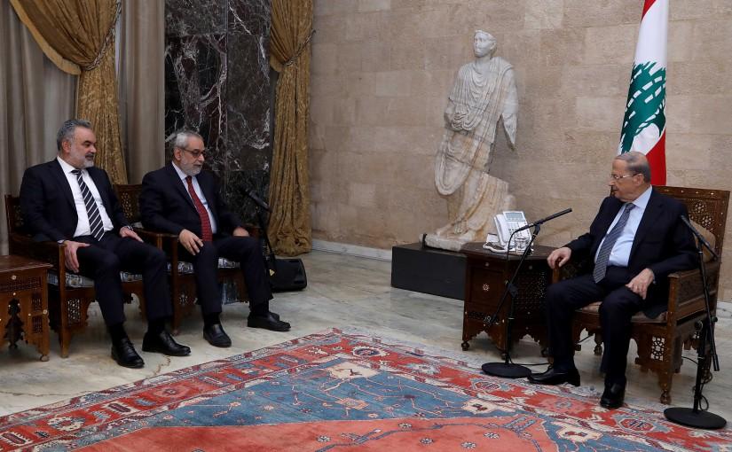 President Michel Aoun meets Armenian Bloc