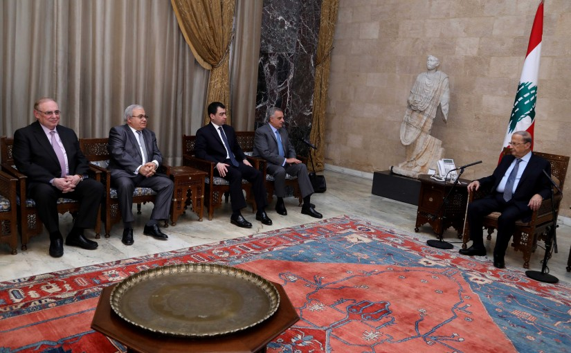 President Michel Aoun meets   Conglomerate Mountain guarantee Block