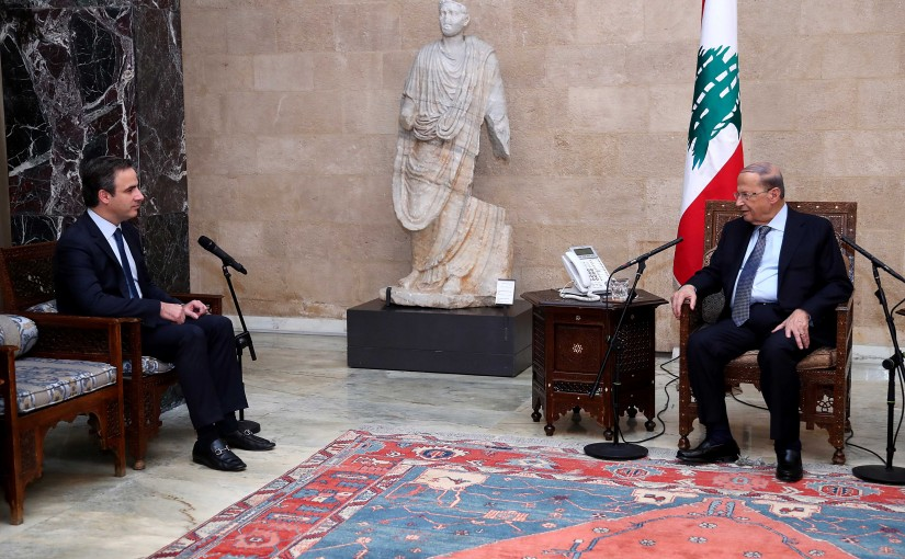 President Michel Aoun meets  Independence Movement.