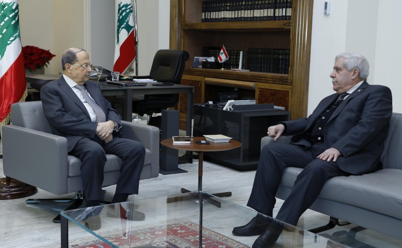 President Michel Aoun meets Former MP Faysal Daoud.