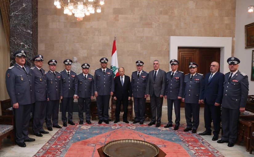 President Michel Aoun meets General Directorate of Internal Security Forces