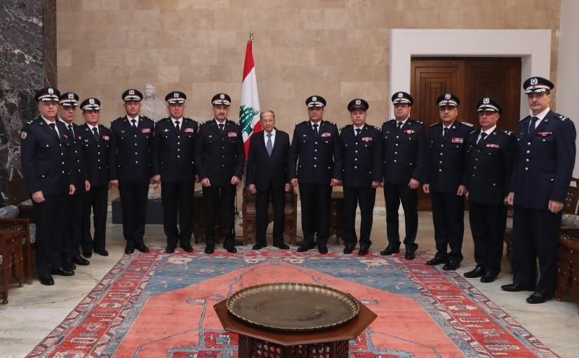 President Michel Aoun meets General Directorate of State Security Forces