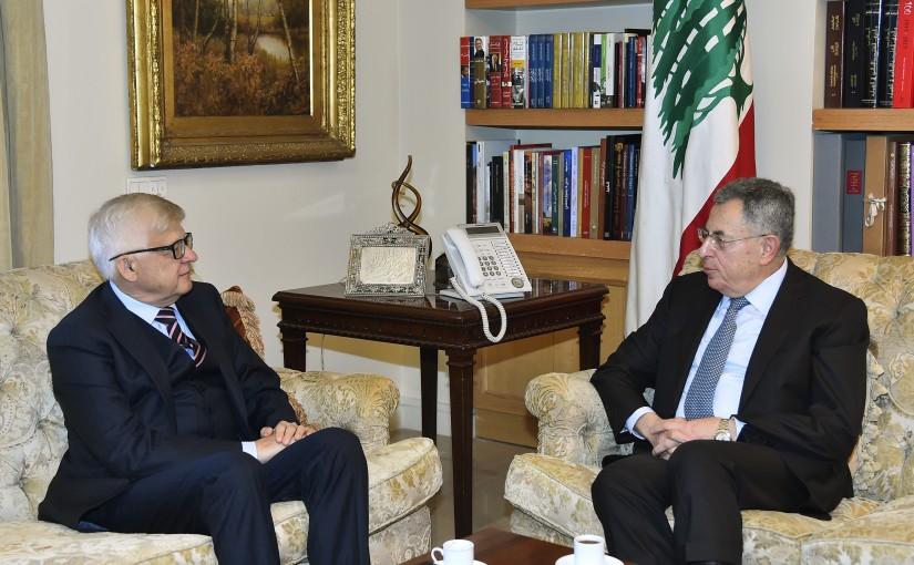 Former Pr Minister Fouad Siniora meets a Russian Ambassador
