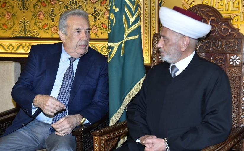Mufti Abdel Latif Derian meets Mr Samir Khatib