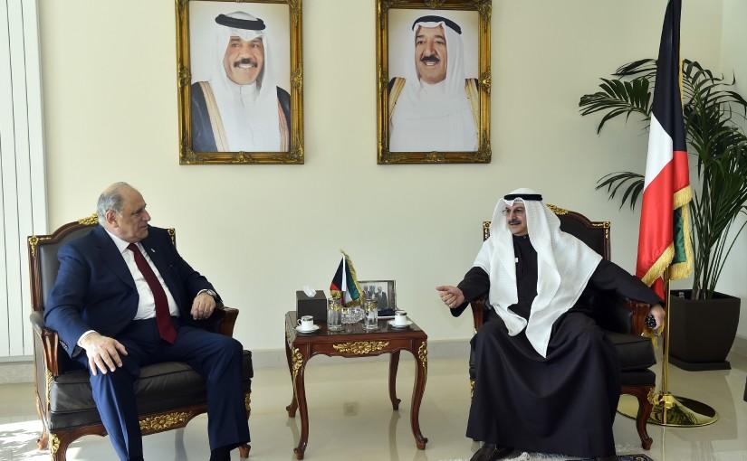 Minister Jamal Jarrah meets Kuwaiti Ambassador