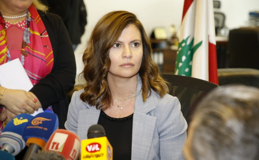 Press Conference for Minister Nada Boustani