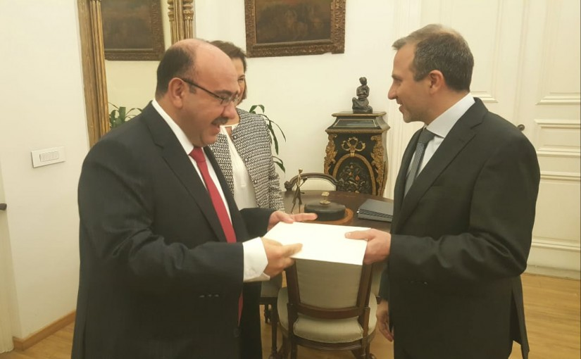 Minister Gebran Bassil meets Jordanian Ambassador