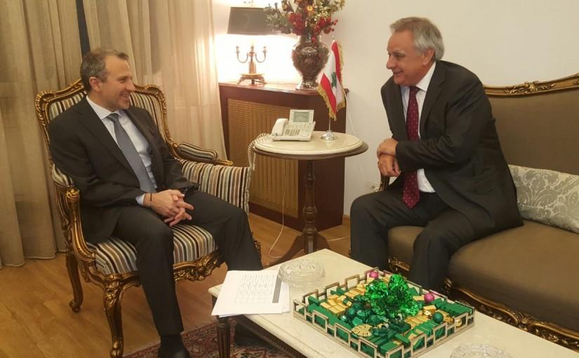 Minister Gebran Bassil meets Chilie Ambassador