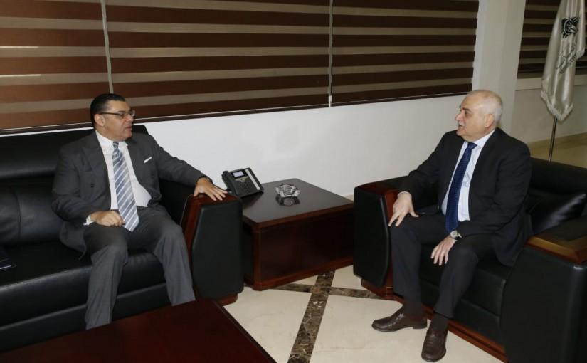 Minister Jamil Jabak meets Egyptian Ambassador