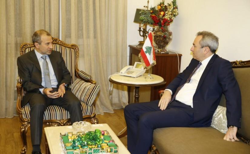 Minister Gebran Bassil meets British Ambassador