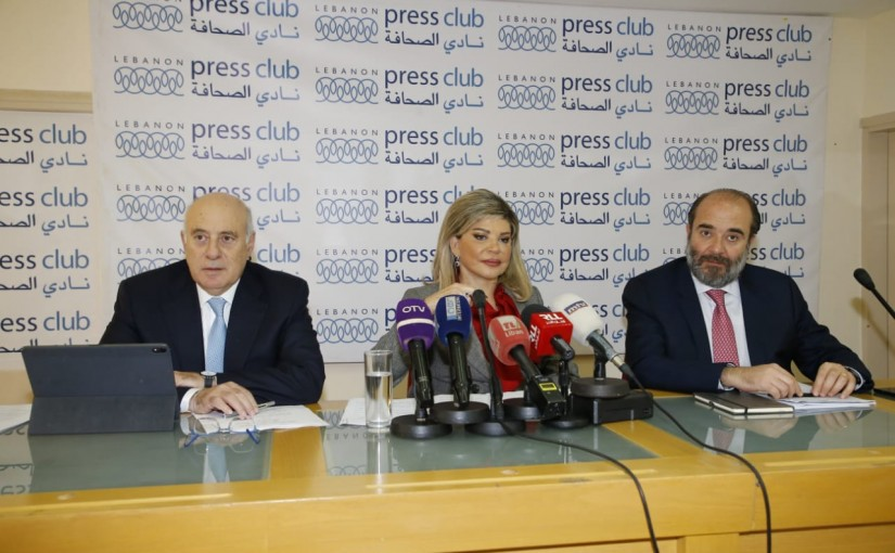 Press Conference for Minister Kamil abou Sleiman & Minister May Chidiac at Press Club