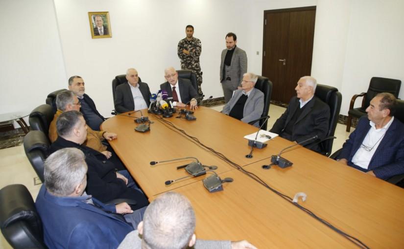 Minister Jamil Jabak meets a Delegation from Baalbak