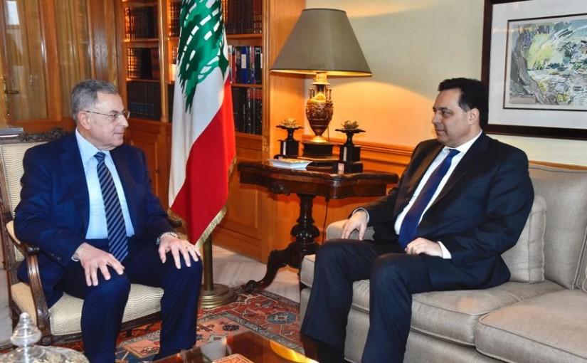 Former Pr Minister Saad Hariri meets Pr Minister Hassan Diab