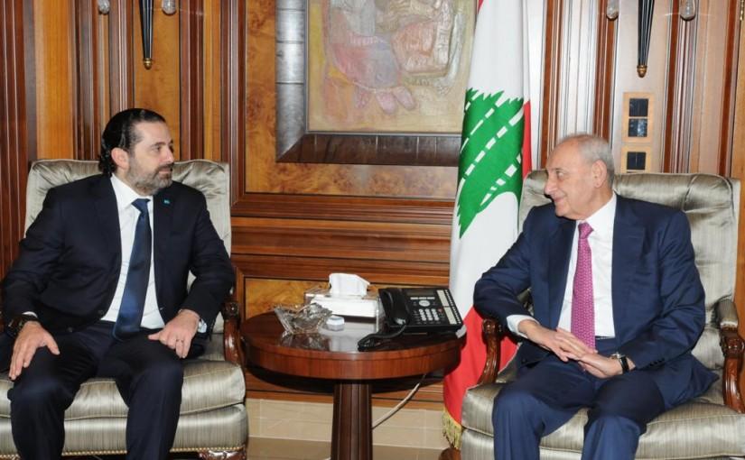 Pr Minister Saad Hariri meets House Speaker Nabih Berri