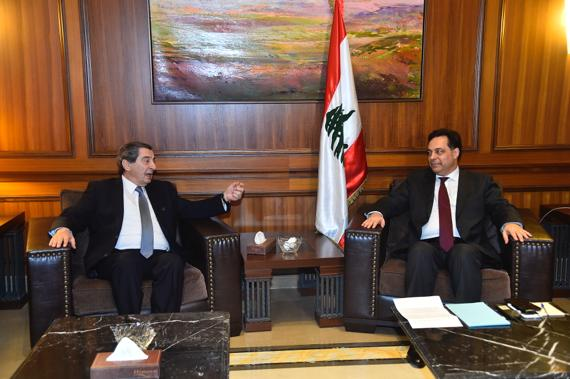 Pr Minister Hassan Diab meets Deputy House Speaker Elie Ferezli