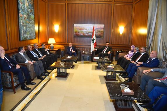 Pr Minister Hassan Diab meets a Delegation from Free Development MPs Bloc