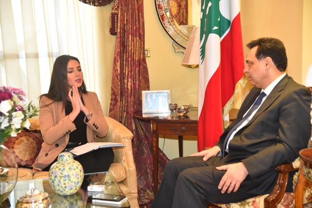Pr Minister Hassan Diab meets a Delegation from Lebanese Movement