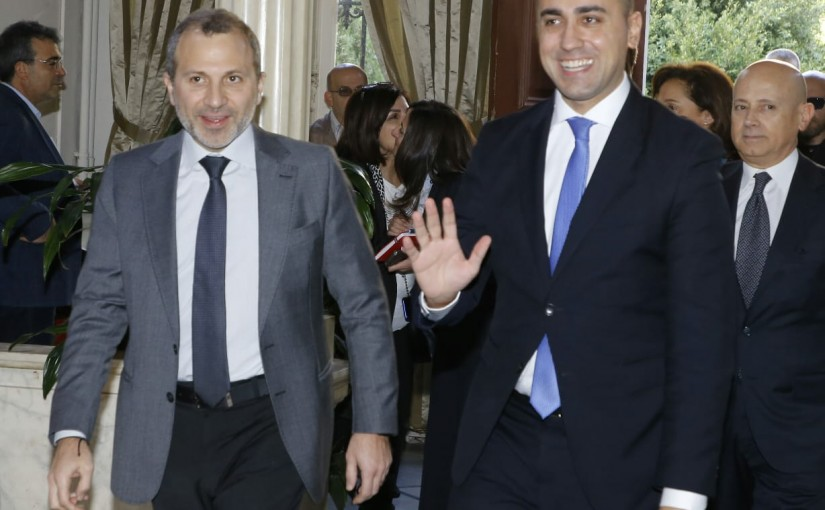 Minister Gebran Bassil meets Italian Minister of Foreign Affairs