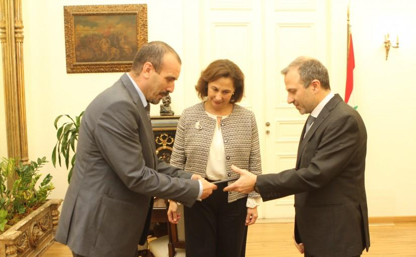 Minister Gebran Bassil meets Algerian Ambassador