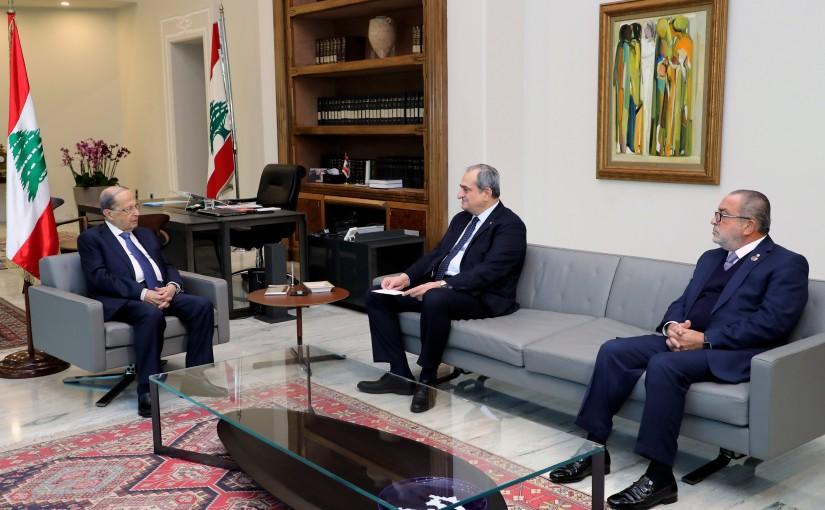 President Michel Aoun meets Mr Nizar Najarian & Mr Michel Khoury