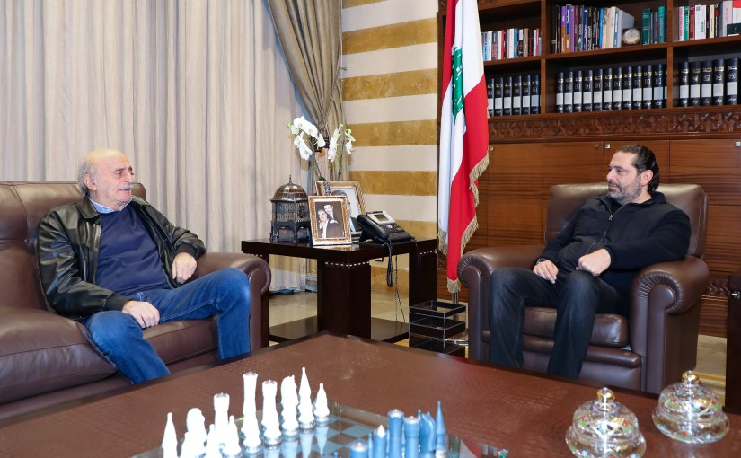 Pr Minister Saad Hariri meets Former MP Walid Jounblat
