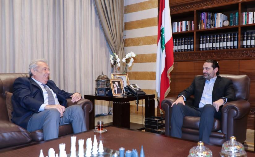 Pr Minister Saad Hariri meets Mr Samir Khatib