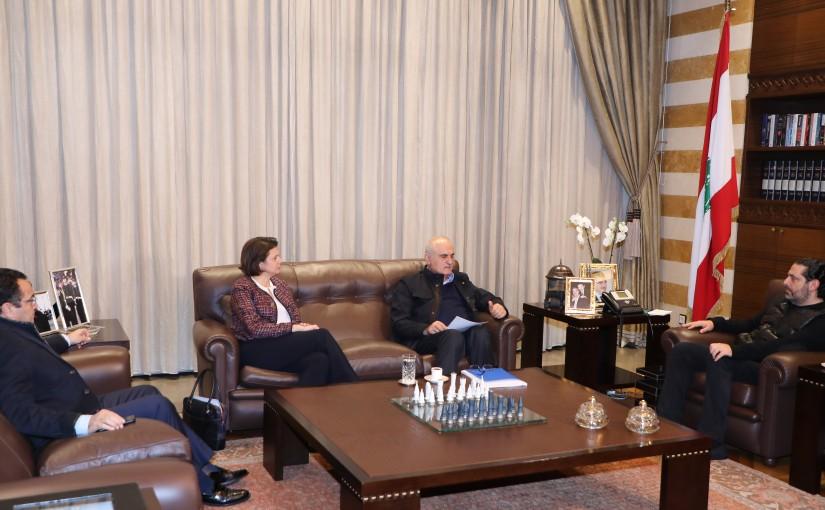 Pr Minister Saad Hariri meets Minister Ali Hassan Khalil & Minister Raya el hassan