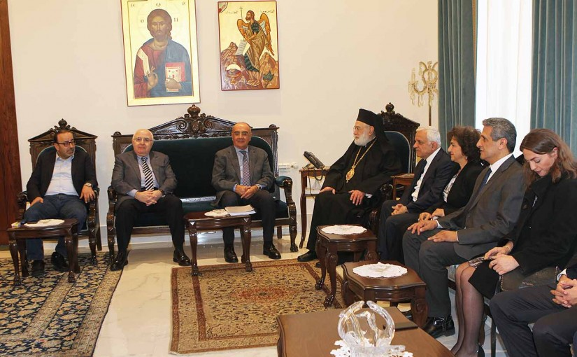 Bishop Elias Audi meets Former MP Fares Souayed with a Delegation