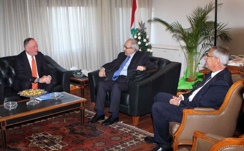 Minister Albert Serhan meets a Delegation from UNIFIL
