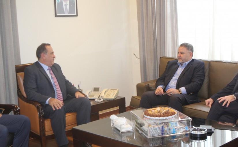Minister Imad Hebalah meets MP Ali Fayad
