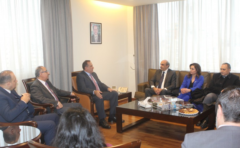 Minister Imad Hebalah meets a Delegation from Lebnor