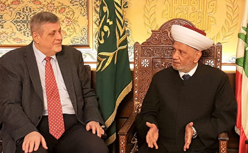Grand Mufti Abdel Latif Derian Meets Mr Jan Kubis