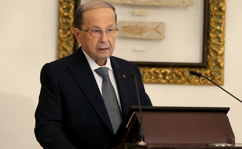 President Michel Aoun receives members of the diplomatic corps accredited in Lebanon .