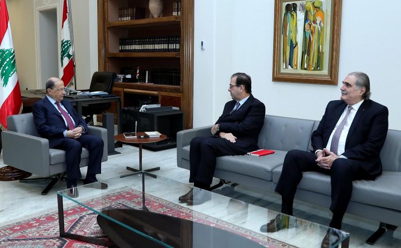 President Michel Aoun meets French Ambassador Bruno Foucher.