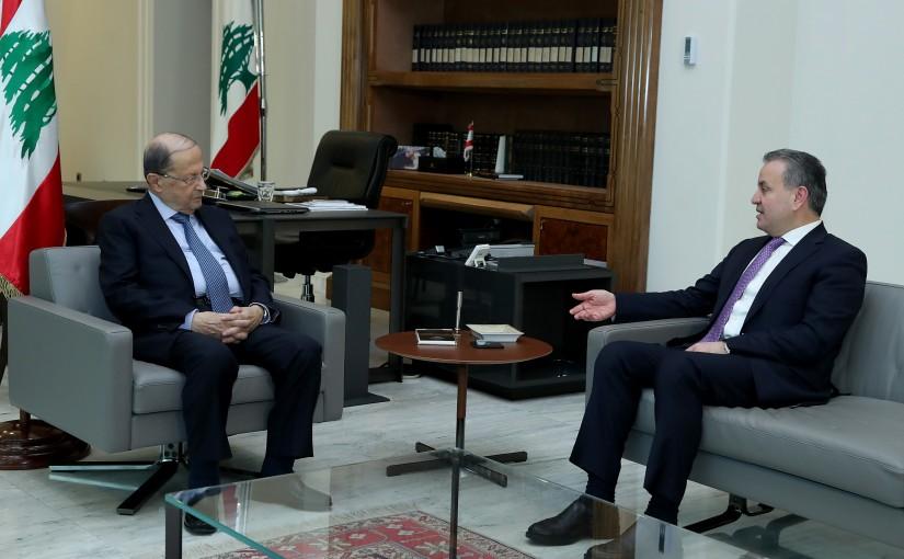 President Michel Aoun meets MP Asaad Dargham.