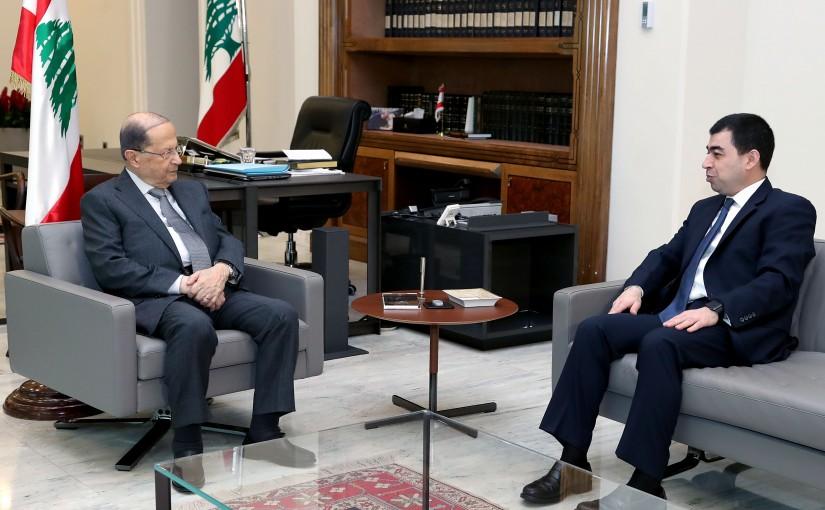 President Michel Aoun meets MP Cezar Abi Khalil.