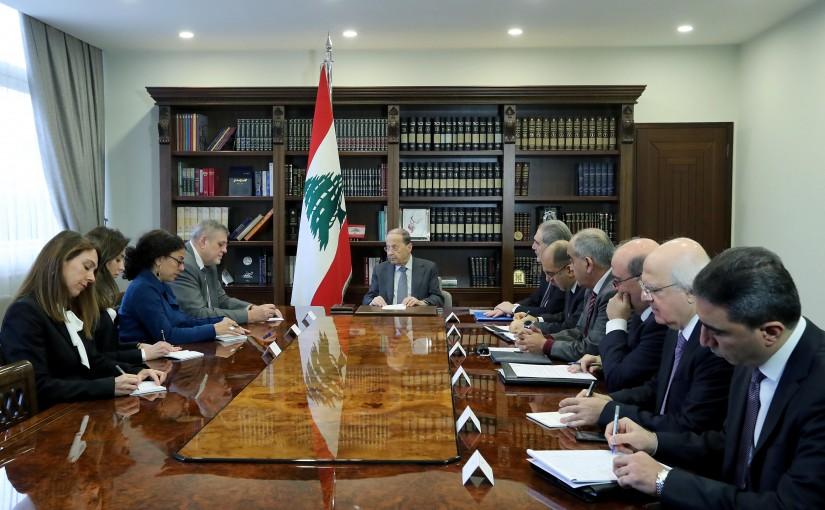 President Michel Aoun meets Mr. Jan Kubis UN Special Coordinator.