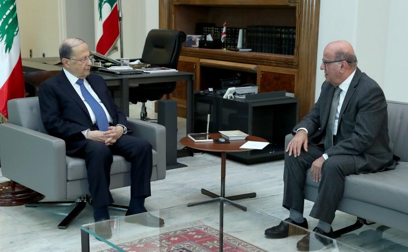 President Michel Aoun meets Dr. Jarjoura Harden