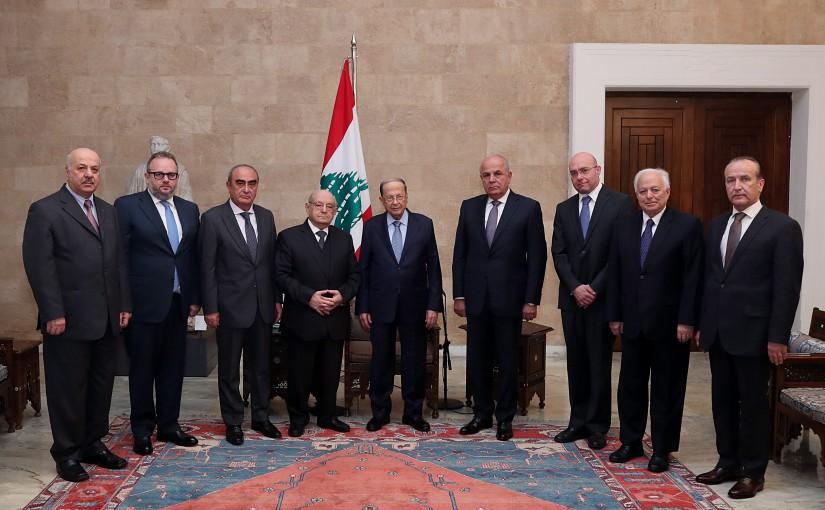President Michel Aoun meets Former MP Naamatalla Abi Nasr.
