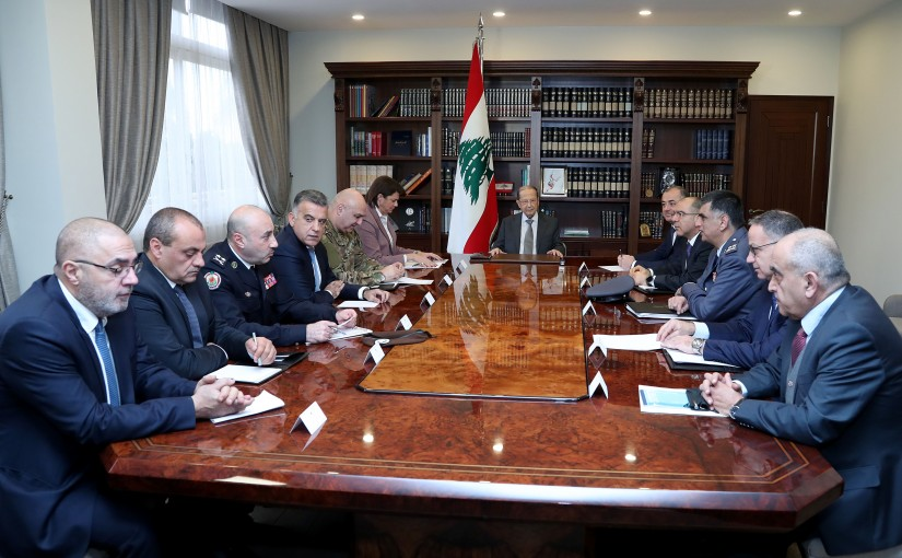 The Security meeting started in Baabda Palace under the chairmanship of President Michel Aoun.